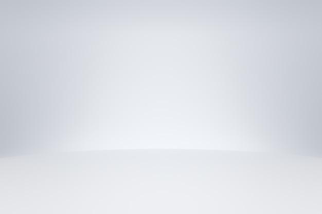 Modello bianco della stanza dello studio su fondo vuoto con il concetto moderno. fondali di visualizzazione del prodotto per il design. rendering 3d.