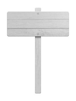 Cartello in legno bianco isolato