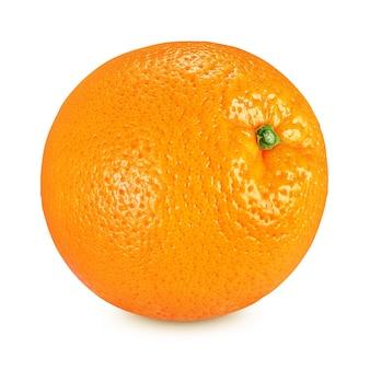 Tutta la frutta arancione matura isolata su priorità bassa bianca con il percorso di residuo della potatura meccanica