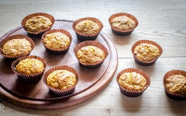 Muffin integrali di zucca con uvetta