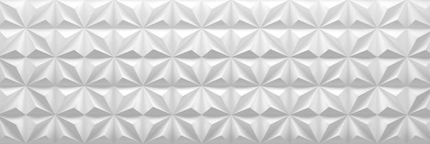 Ampio banner geometrico con piramidi ripetute piastrelle architettoniche quadrate. illustrazione 3d.