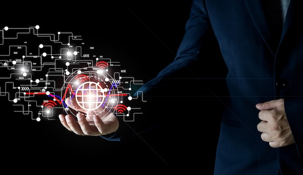 Tecnologia internet wireless wifi per comodità nella vita quotidiana il concetto di internet wireless fornisce