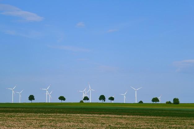 Generatori eolici in un campo