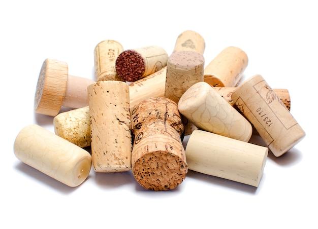 Tappi per vino isolati