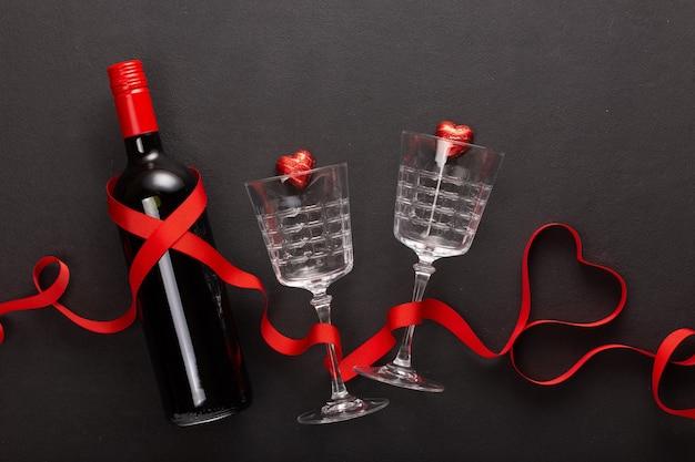 Regalo di vino e san valentino.