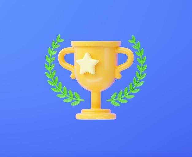 Coppa del vincitore con una ghirlanda