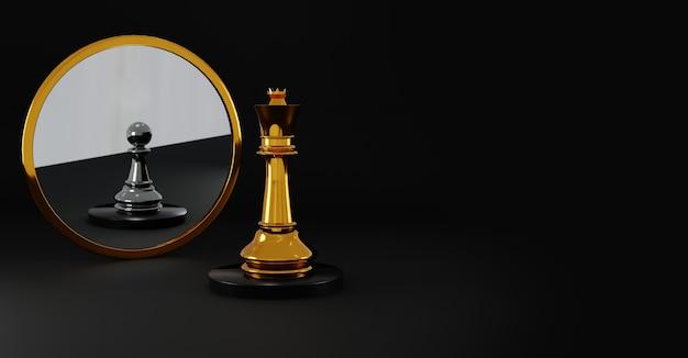 Priorità bassa di concetto di scacchi vincente