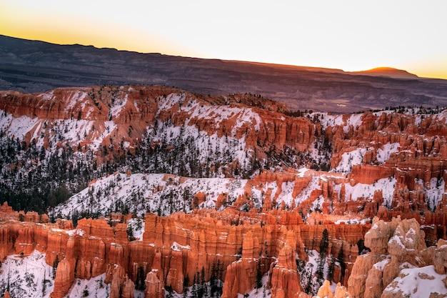 Inverno nel parco nazionale di bryce canyon, utah, usa