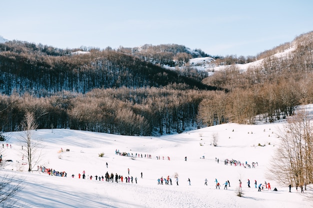 Stazione sciistica invernale in montenegro, zabljak