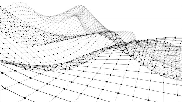Wireframe - un modello tridimensionale scheletrico in cui sono rappresentati solo rendering 3d di linee e vertici