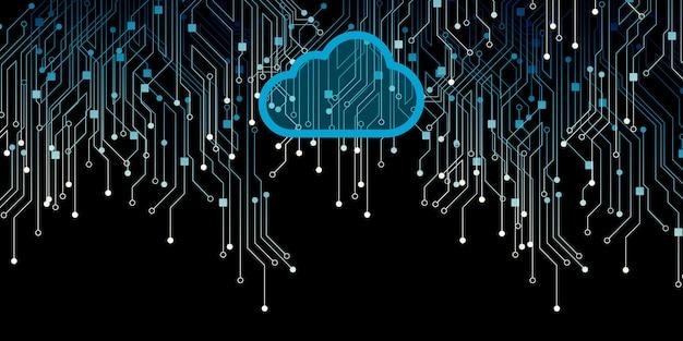 Rete wireless archiviazione su cloud la tecnologia di cloud computing di internet