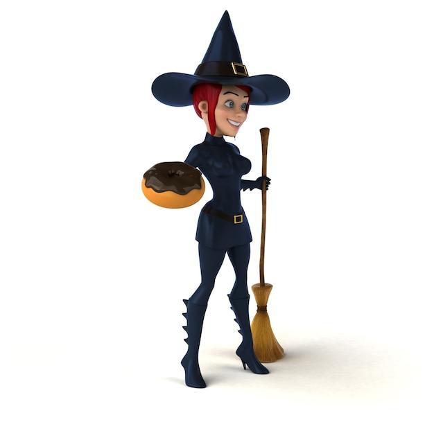 Illustrazione della strega