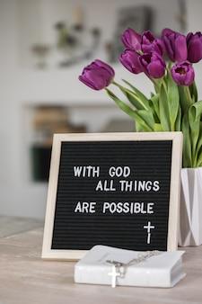 Con dio tutte le cose sono possibili