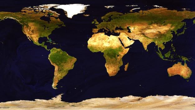 Mappa del mondo realizzata da uno sfondo di superficie in legno duro