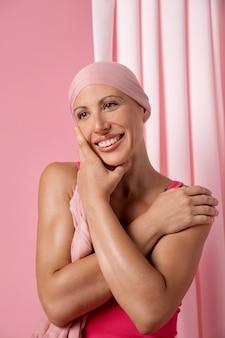 Donna guarita dal cancro al seno