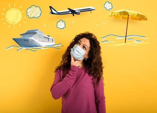 La donna vuole viaggiare ma è preoccupata