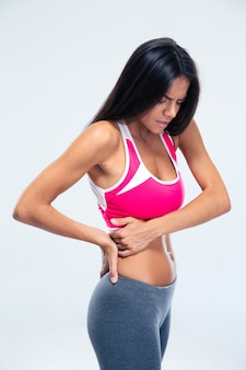 Donna con dolore laterale