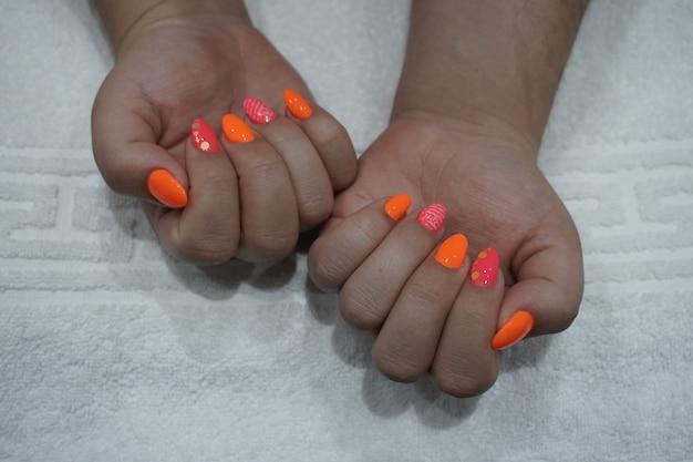 Smalto per unghie da donna art manicure gel per unghie color neon in stile moderno