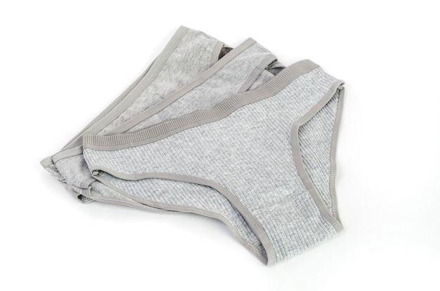 Mutandine da donna in cotone grigio