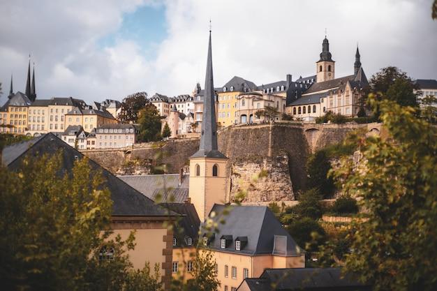 Splendida vista sulla città vecchia di lussemburgo
