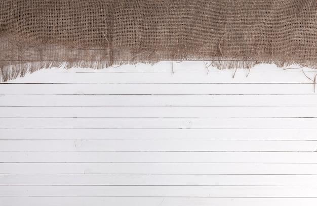 Sfondo di legno con tela