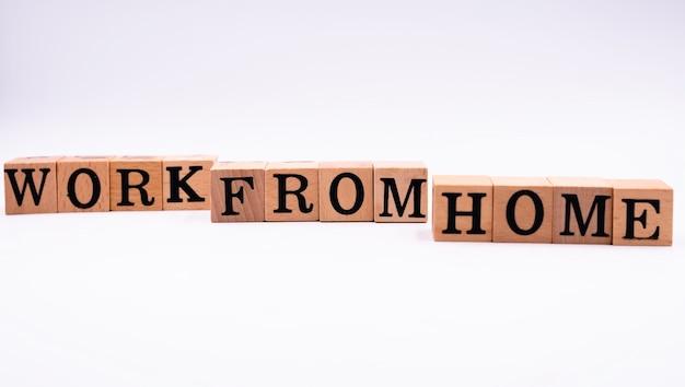 Blocchi di legno ortografia lavoro da casa,