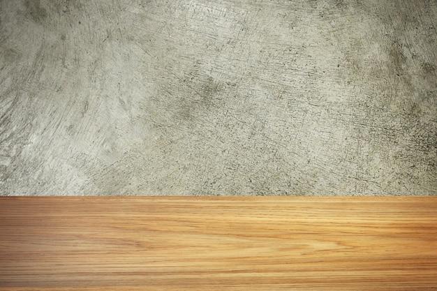 Il materiale di immagine di struttura del cemento e di legno per fondo.
