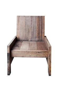 Sedia in legno isolata su bianco.