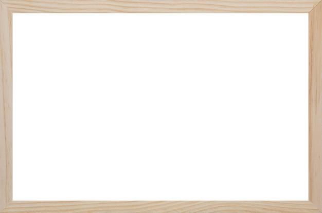 Cornice in legno con spazio bianco vuoto