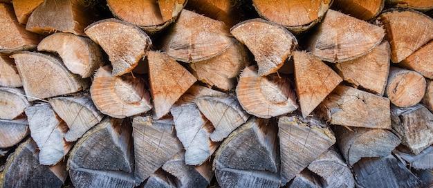 Trama di sfondo mucchio di legno.