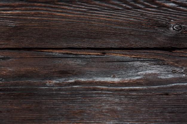 Struttura in legno di assi di pino spazzolato con nodi. superficie astratta con motivo in legno. struttura di legno angosciata. carta da parati in legno invecchiato.