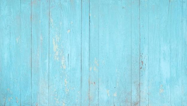 Parete in legno dipinta di blu stagionato