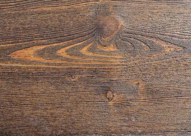 Fondo di legno con lo spazio della copia, scrivania di legno a strisce marrone, vecchio tavolo o pavimento, vecchio fondo di legno strutturato scuro del grunge, la superficie della vecchia struttura di legno marrone per il design, vista dall'alto