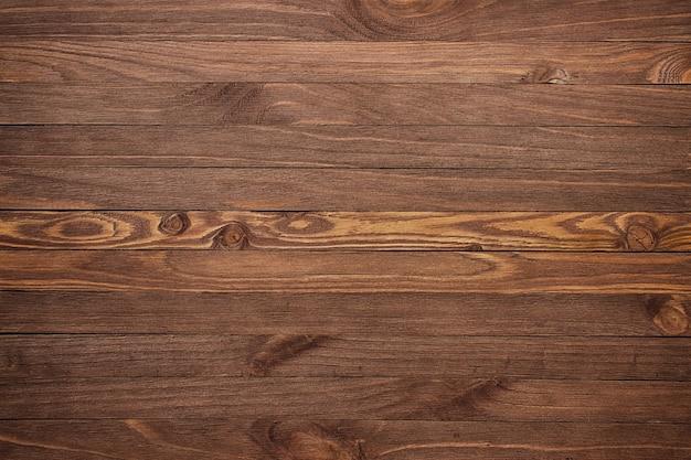 Fondo in legno con copyspace, scrivania in legno a strisce marrone, vecchio tavolo o pavimento
