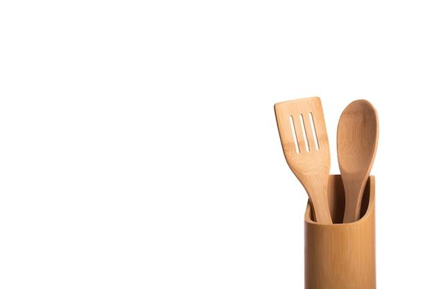 Utensili da cucina in legno di bambù