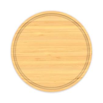 Banner in legno su uno spazio bianco. illustrazione 3d isolata