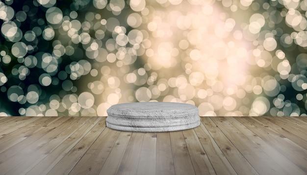 Base in legno per festeggiare il capodanno
