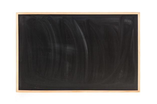 Una lavagna in legno isolata su uno sfondo bianco