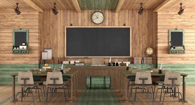 Aula di legno in stile retrò