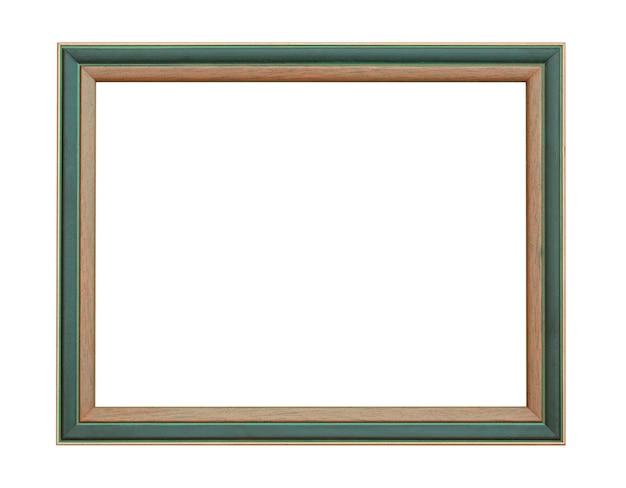 Cornice in legno isolata su sfondo bianco