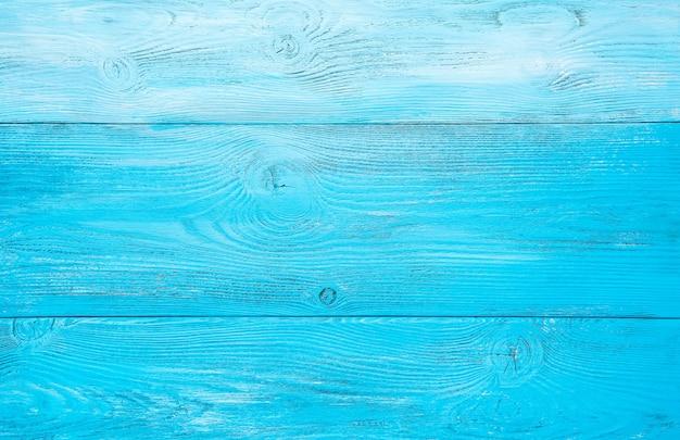 Fondo azzurro in legno. vista orizzontale. il concetto di sfondi naturali.