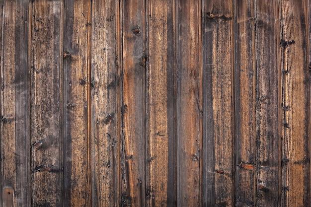 Tavole di legno. vecchia struttura in legno, vintage e marrone della parete da vicino.