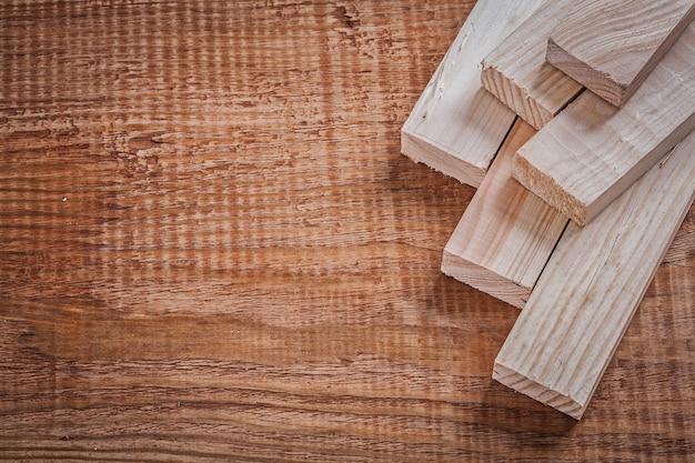 Assi di legno su legno d'epoca