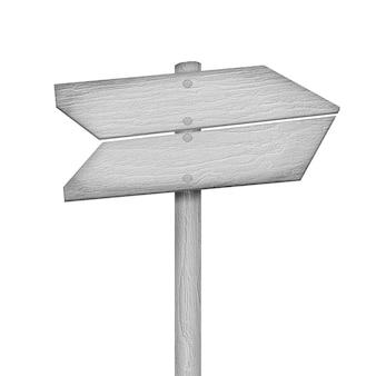 Segno di legno isolato su bianco
