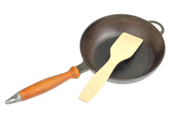 Spatola in legno per mescolare, gadget da cucina Foto Premium