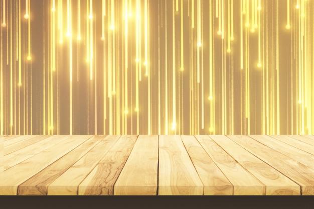 Tavolo di legno. scheda vuota. struttura di legno