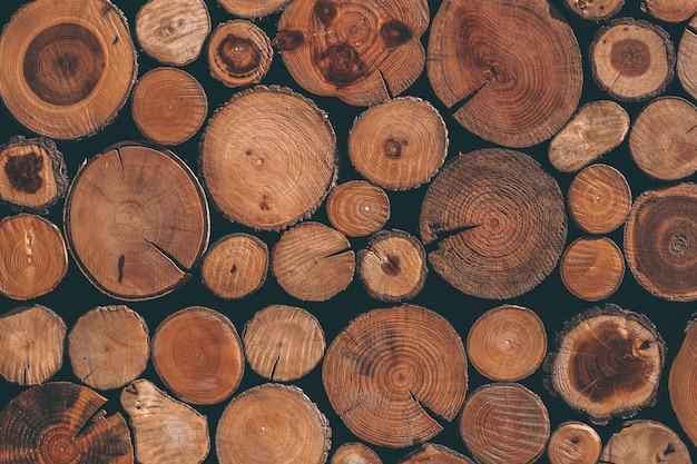 Struttura in legno con tronchi di pino