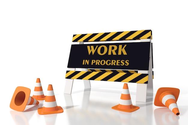 Lavori in corso in un cantiere stradale