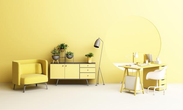 Scrivania e sedia da lavoro ufficio con set di mobili per piante e mobili per il lavoro a casa con oblò