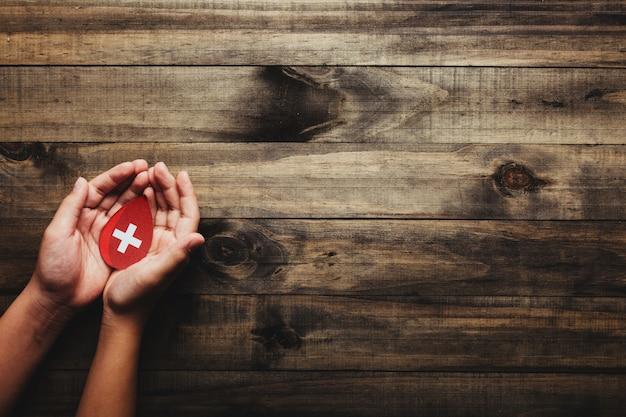 Concetto di giornata mondiale del donatore di sangue e dell'emofilia